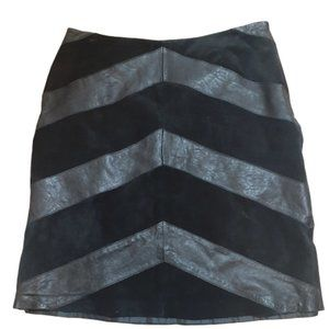 3/$20 leather suede asymmetrical pencil skirt 12
